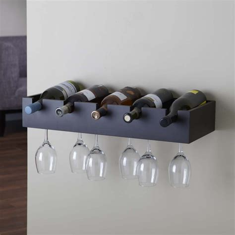 Wall Mount Wine Rack by Shop Nexxt Designs Ellington 5 Bottle Espresso Wall Mount