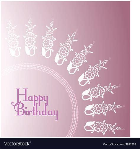 purple birthday card template purple floral birthday card templates royalty free vector