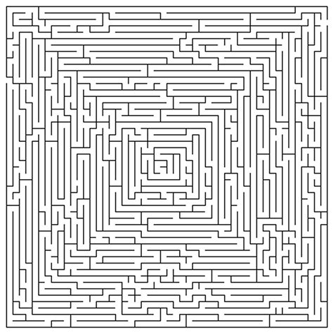 free difficult mazes coloring pages