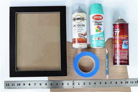 diy picture frame matting colors diy color pop veneered frame