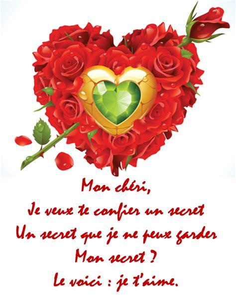 Cartes De Valentin by Valentin Texte Message Et Carte De