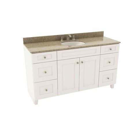 Silestone Bathroom Vanity American Woodmark Reading 61 In Vanity In Linen With Silestone Quartz Vanity Top In Quasar And