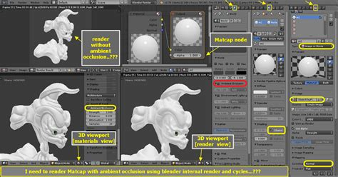 blender tutorial cycles render nodes rendering matcap with ambient occlusion using