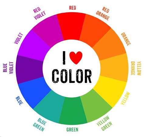 color wheel chart complimentary colors pictures to pin on pinsdaddy