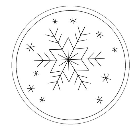 Snowflake Ornament Free Hand Embroidery Pattern Craftfoxes Ornament Stencil Template