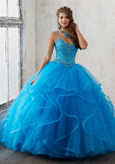 Dress Valencia Blue valencia collection quincea 241 era dresses morilee