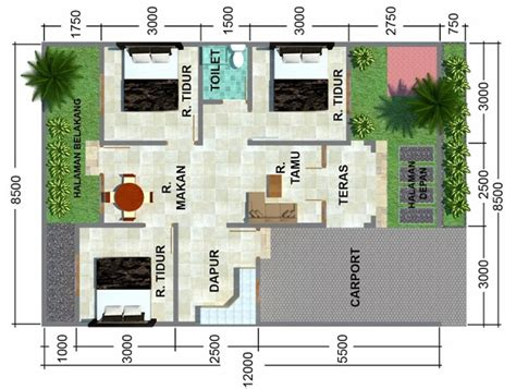 gambar rumah minimalis sketsa denah rumah minimalis sederhana modern 2015