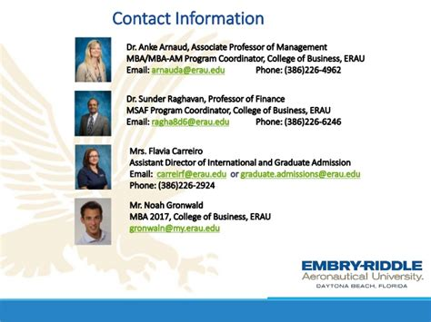 The Mba Program Past And Present by Webinar Ms And Mba Programs From Embry Riddle