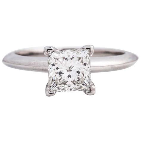 and co platinum 1 06 carat princess cut solitaire