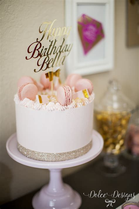 modern pink  gold birthday party