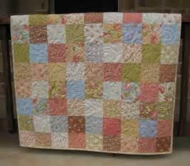 shabby chic baby quilt