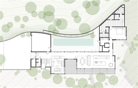 Small Cabin Floor Plan Living Roof On Slope House Merges Beautifully With