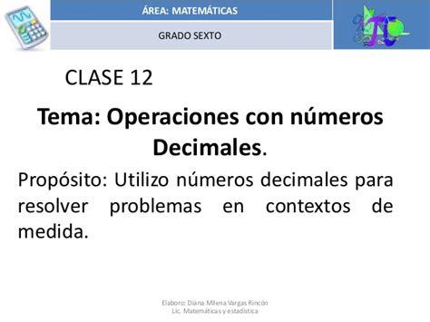 operaciones con decimales operations clase 12 operaciones decimales