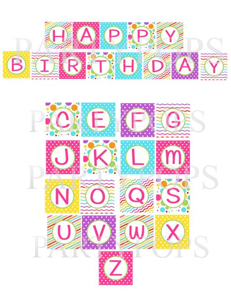 printable alphabet letters for birthday banner 7 best images of happy birthday letters printable happy