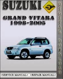 Suzuki Vitara Workshop Manual Free 1998 2005 Suzuki Grand Vitara Factory Service Repair