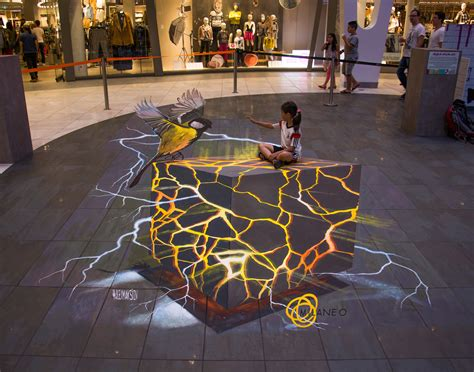 3d paintings 3d painting lava cube 3d street painting by alex maksiov