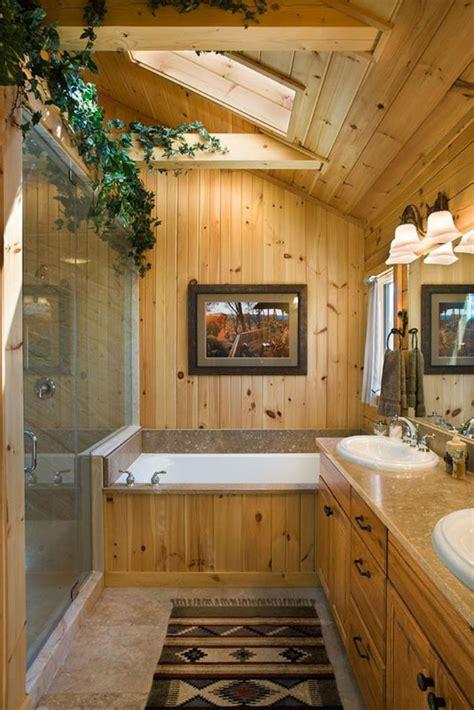 Badezimmerm Bel Holz Rustikal landhaus badezimmer