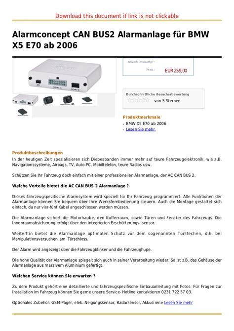 Alarmconcept Can Bus2 Alarmanlage F 227 188 R Bmw X5 E70 Ab 2006