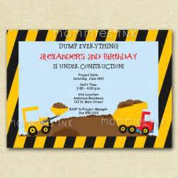 construction birthday invitation construction by mommiesink