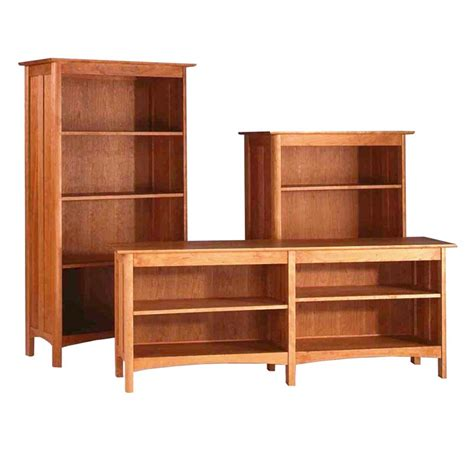 open bookshelves vermont made wooden modern shaker custom open bookcase