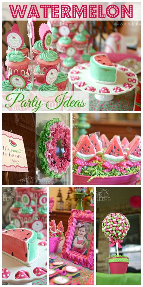 cute themes for birthday parties watermelon 1st birthdays and cute ideas on pinterest