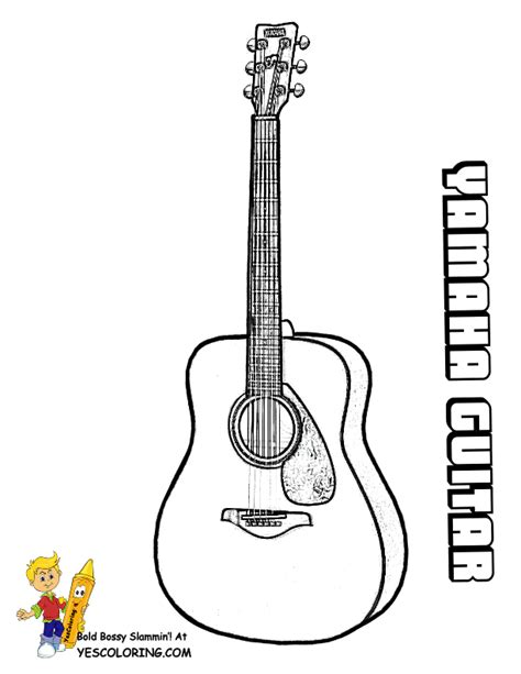 acoustic guitar coloring page free coloring pages of acoustic guitars