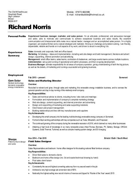 Sle Resume With Profile by Sle Resume Personal Profile 28 Images The Resume Professional Profile Exles 100 Images Sle
