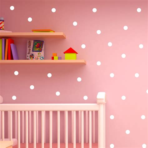 wall stickers shop polka dot wall stickers decal childs vinyl home decor spots mural 120