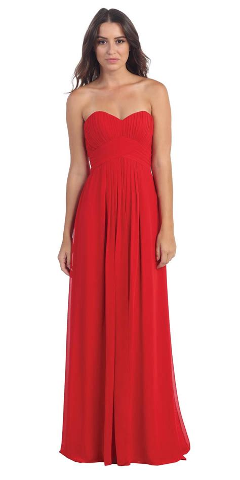 red ruched empire waist dress bridesmaid dresses