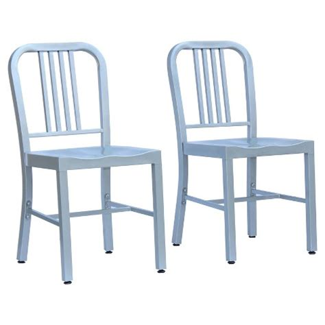 payton metal dining chair silver set of 2 painted