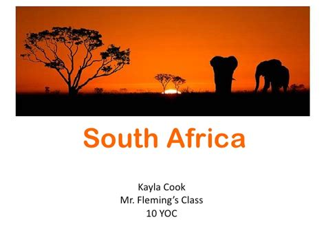 South Africa Power Point Africa Powerpoint Template