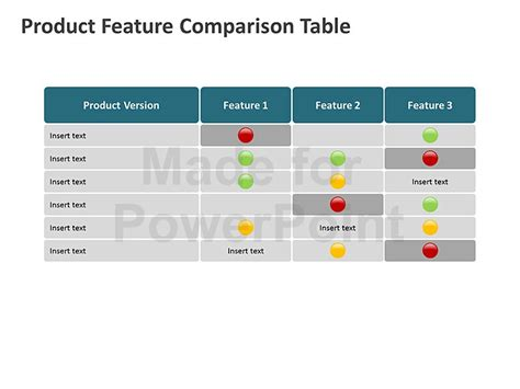comparison table for ppt presentations