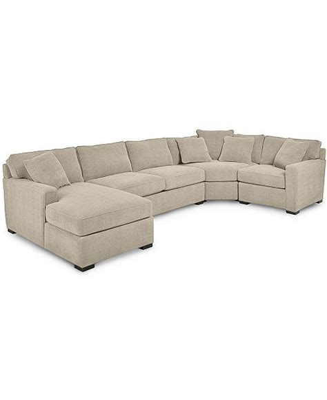 Sectional Sofa Macys by Furniture Radley 4 Fabric Chaise Sectional Sofa