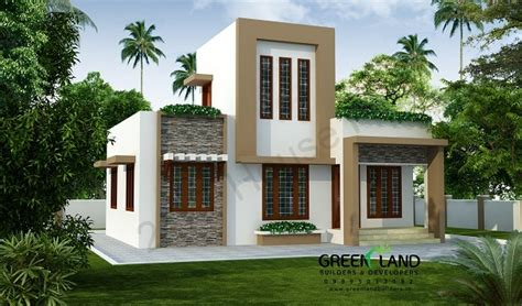 kerala home design single floor low cost 2 bhk contemporary low cost single floor home design at 843 sq ft interior home plan