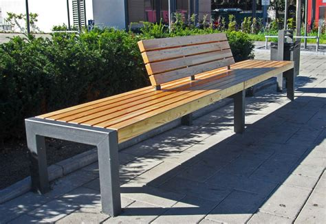 public benches vario bench leander by union public street furniture
