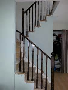 Refinishing Stair Banister Wood Railing Stain Refinish Barrie Artisticapainting Com