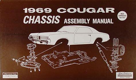 car service manuals pdf 1969 mercury cougar auto manual 1969 mercury cougar chassis assembly manual 69 brakes suspension fuel steering ebay