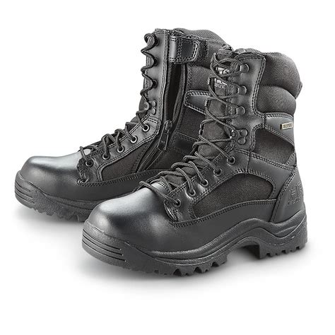 mens black tactical boots hq issue s waterproof side zip tactical boots 292023