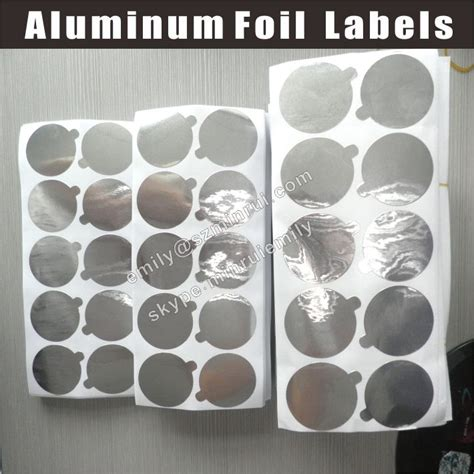 Stiker Dapur Almuniumfoil 1 custom pre die cut aluminium foil seals stickers for
