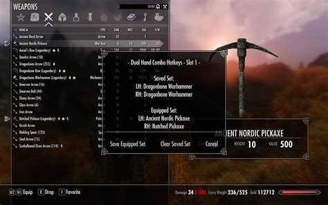 skyrim hotkey items dual hand combo hotkeys at skyrim nexus mods and community