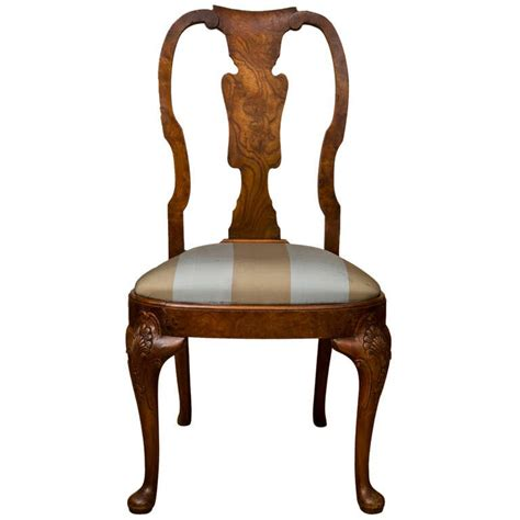 queen anne armchair antique queen anne style side chair at 1stdibs