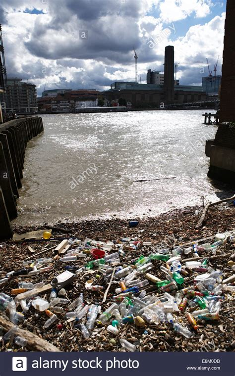 thames river london ontario pollution river pollution uk low tide reveals washed up plastic