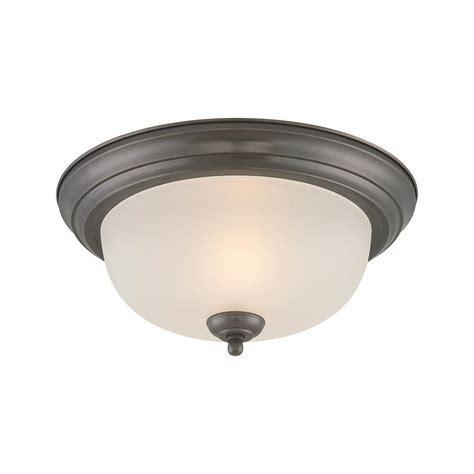 bronze flush mount ceiling light lighting ceiling essentials 1 light rubbed