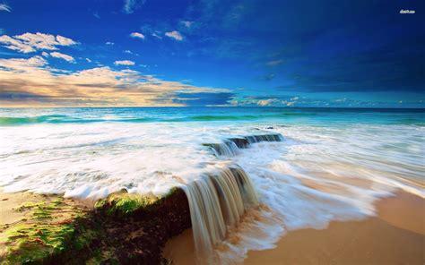 ocean wave desktop wallpaper wallpapersafari