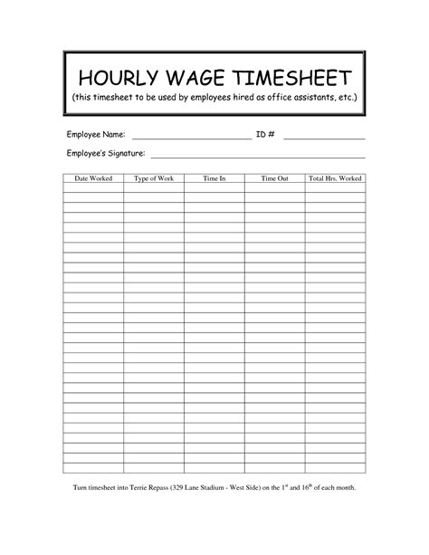 hourly employee timesheet template 10 best images of hourly timesheet template employee