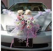 Wedding Car Flowers Decoration With Bear  Pls Call Us