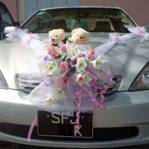 Decorate Wedding Car With Pink Flowers by Wedding Car Flower Decorations 2017 Ototrends Net