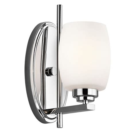single bathroom light fixtures kichler 5096ch chrome eileen 4 5 quot wide single bulb bathroom lighting fixture lightingdirect com