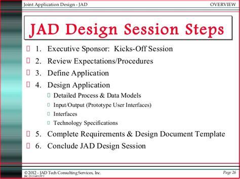 joint application design definition jad joint applications development