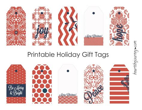 printable christmas gift tags 2009 heartthejourney diy free printable holiday gift tags